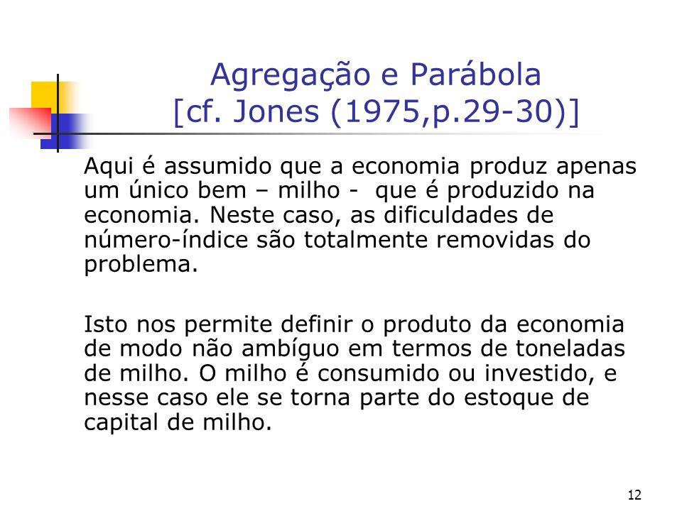 Agregação e Parábola [cf. Jones (1975,p.29-30)]